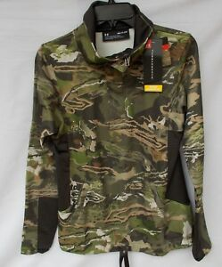 New Women's Under Armour Stealth Early Season 12 Zip Shirt UA Forest Camo SM