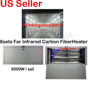 8sets SprayBaking Booth Infrared IR Paint Curing Heating Lamp Professional Tool
