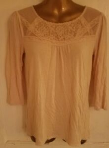 Ladies Top Lace By Designer Ann Taylor Loft Size S Stylish Comfort Casual Dress