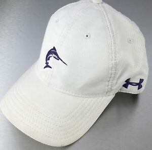 Under Armour Golf Hat Cap White Purple Marlin Patriot's Point Slouch