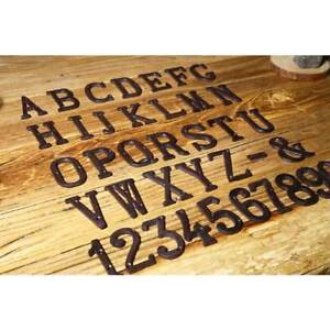 HOT Cast Wrought Iron Black Antique House Door Alphabet Letters and Numbers
