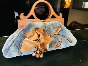 Designer sheared mink handbag by Anthony Luciano