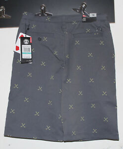 BOYS YOUTH KIDS UNDER ARMOUR MatchPlay Printed Golf Cargo Shorts-16-Gray-NWT-$50