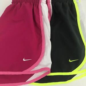Nike Tempo Girl's Shorts Sz X-Large Lined Running Lot of 2 Gray and Pink