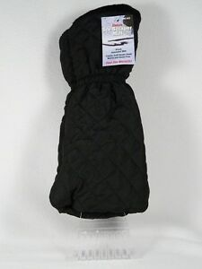 One Size Deluxe Ice Scraper Mitt  Black Plush - so soft inside Elastic cuff NWT