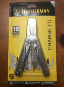 Leatherman Charge TTi Titanium Multi Tool with a Leather Sheath  MSRP $185