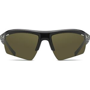 Under Armour Core 2.0 Sunglasses Shiny Black Frame Game Day Green Lens