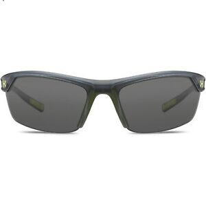 Under Armour Zone 2.0 Sunglasses Satin Crystal Frame Gray Lenses