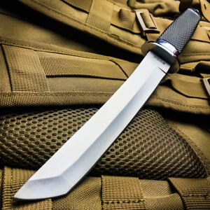 13 TACTICAL BOWIE SURVIVAL HUNTING KNIFE MILITARY Combat Fixed Blade w SHEATH $23.99