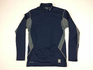 Nike Nevada Wolf Pack - Navy Compression Dri-Fit Long Sleeve Shirt (L) - Used