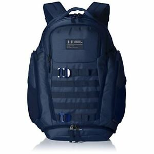 Under Armour Backpack College Laptop Book Bag Water Resistant School Bag Navy