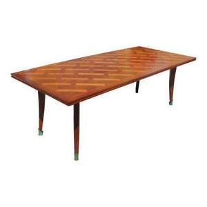 Master Piece French Art Deco Dining Table Cherry Wood By Leon Jallot 1930s