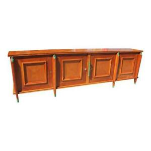 Master Piece French Art Deco Sideboard  Buffet Cherry Wood By Leon Jallot 1930s