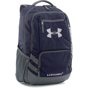 [1272782-410] New Men's UA Under Armour Team Hustle Backpack - Navy Graphite