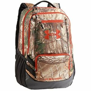 Under Armour Sports & Fitness Features Camo Hustle Backpack Realtree One Size