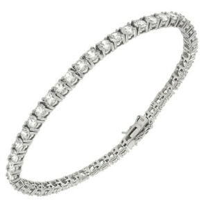 Womens 925 Sterling Silver CZ RoundTennis 7