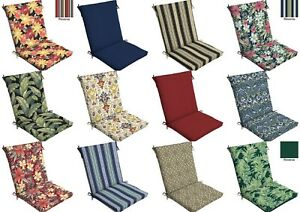 Outdoor Cushion Seat Pad Set Patio High Back Chair Soft Garden Pads Choose 24Pc