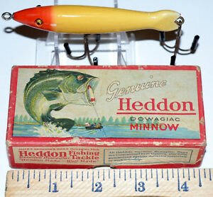 Vintage Heddon Dowagiac Spook Minnow 802 RH Topwater Fishing Lure With Box