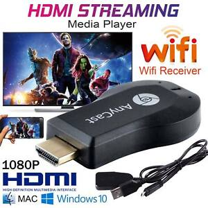 4K AnyCast M2 WiFi Display Dongle HDMI Media Player Streamer TV Cast Stick