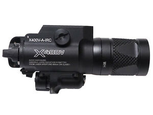 Tactical Weapon Light X400V Strobe Version Flashlight With Red Laser for hunting