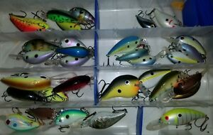 lot of fishing lure crankbaits