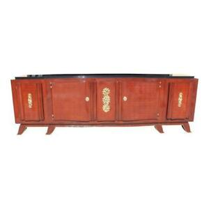 Impressive French Art Deco Rosewood Sideboard by Jules Leleu circa 1935s
