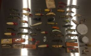 Lot Of 49 Old Fishing Lures Plus Misc. Tackle Box Stuff