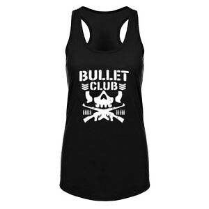 Womens Bullet Club Funny Fitness Workout Racerback Tank Tops