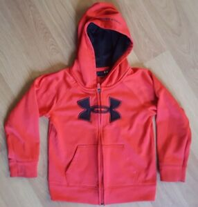 Boys 4 T Red Full Zip Up Hoodie Under Armour Jacket