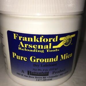 FRANK ARSENAL PURE GROUND MIEA-DRY LUBRICANT-4 OZ-RELOADING TOOLS-RARE-SHIPS N 2