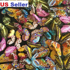 24pcs 3D Double Wing Luminous Butterfly Glow In Dark Wall / Party Decal In Box