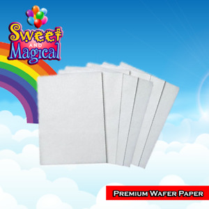 100 Edible Rectangle Potato Starch Rice Wafer Paper Sheet White Vegetable 8