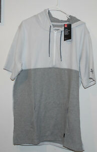MENS UNDER ARMOUR Pursuit Hooded Hoodie T Shirt-1290643-Grey-XXL or 2XL-NWT-$70