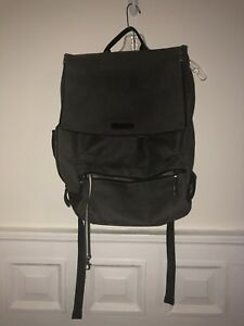 Timbuk2 Distilled Grey Waxed Canvas Leather Bag Backpack Laptop Sleeve Cyclist