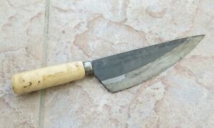 Crude - Asian Carbon Steel Boning Chef Kitchen Knife, Sharp, 7 Inch Round Handle