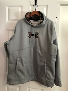 MENS UNDER ARMOUR CAMO COLD GEAR HOODIE SWEATSHIRT SIZE 2XL XXL NICE
