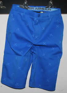 BOYS YOUTH KIDS UNDER ARMOUR Match Play Golf Cargo Shorts-1290351-18-Blue--$50