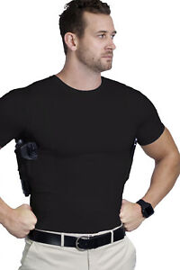 AC UNDERCOVER CCW Crew Neck Shirt Concealed Carry Clothing Holster 511
