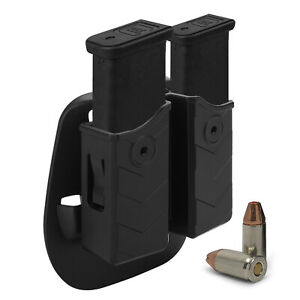 Universal Magazine Pouch Holster Double Dual Stack Mag for 9mm .40 pistol Glock