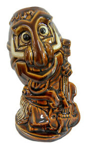 Rock a Hula Upright String Bass Playing RockaBilly Tiki Mug by Tiki Farm