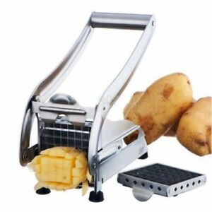 Stainless Steel French Fry Cutter Potato Vegetable Slicer Chopper Dicer 2 Blade
