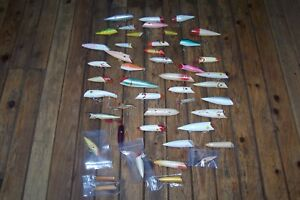 45 Various Salmon Fishing Plugs  Homemade & Factory Made  Canadian & American