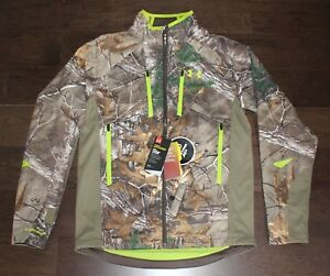 NEW Infrared Under Armour Real Tree Camo Jacket SMALL S Scent Control Storm $200