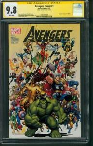Avengers Classic 1 CGC SS 9.8 Stan Lee Signed Art Adams 82007 Team Cover