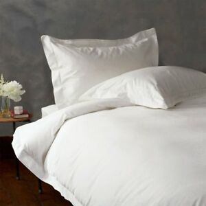 3 Pc 1500 Thread Count Full / Queen White Solid Duvet Set 100% Egyptian Cotton