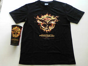 THE HUNGER GAMES MOCKING JAY COMBO T-SHIRT & COOL COLLECTABLE CUP NEW FABULOUS!!