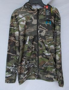 New Boy's Under Armour Storm Camo Full Zip Hoodie UA Forest Youth XS