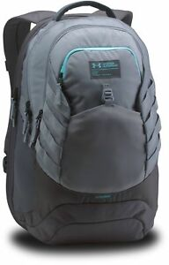 Under Armour Mens Hudson Backpack Water Resistant Laptop Sleeve Gray