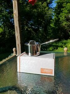 ALL CLAD copper core 2 qt quart SAUCE PAN with LID 1st MADE IN AMERICA nib