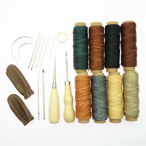 22pcs Leather Craft Professional Leather Sewing Kit DIY Hand Stitching Tools $13.33